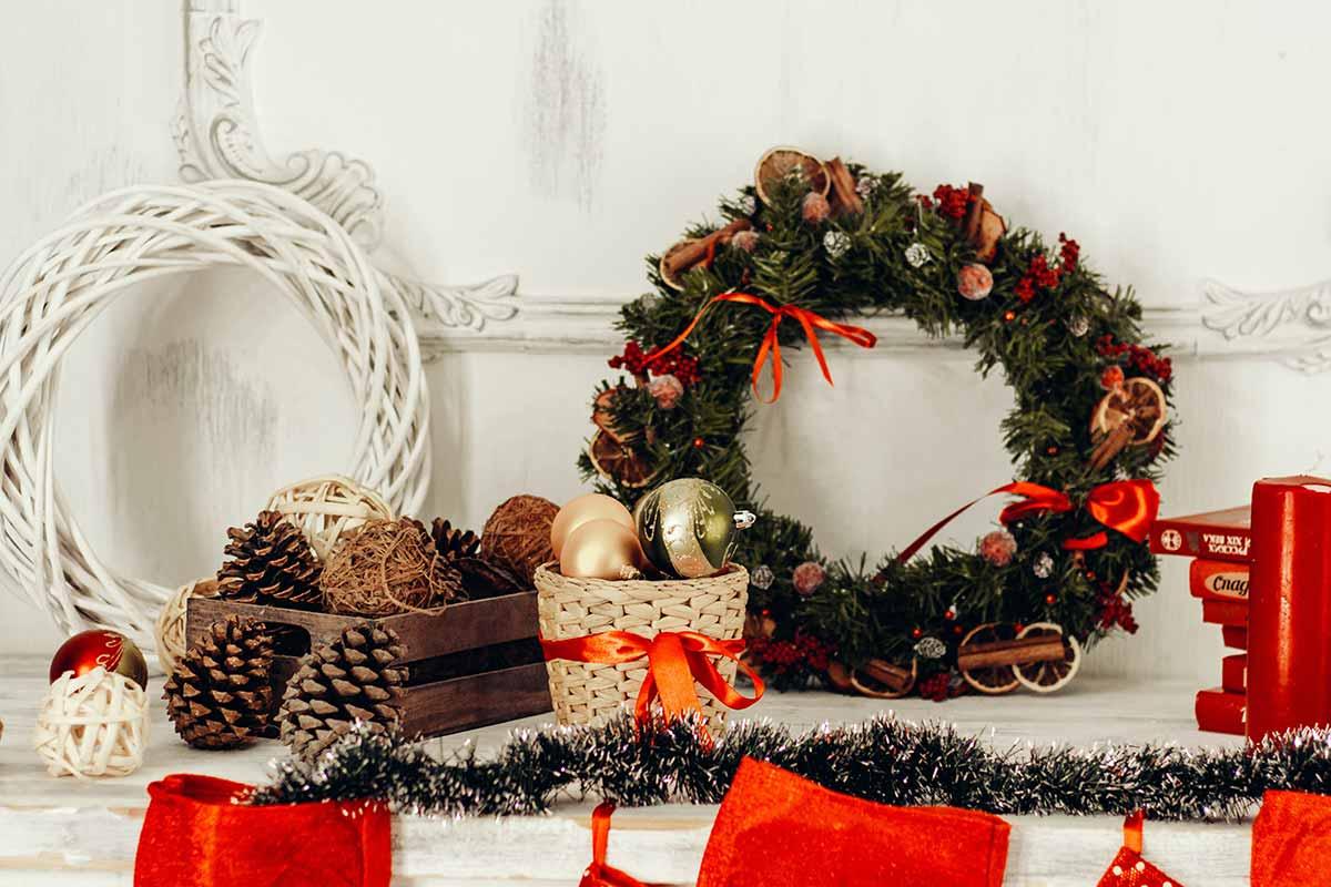 Coroas de natal DIY que podes fazer em casa para comemorar o Natal