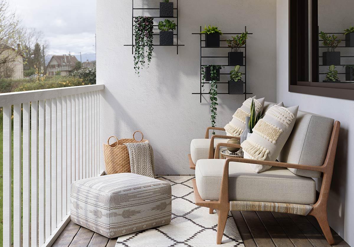 Como decorar o terraço com 50€